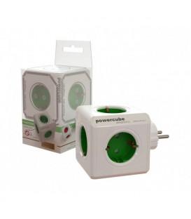 Ladrón verde 5 tomas (Power Cube