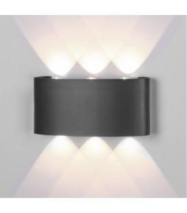 ARCS * APLIQUE EXTERIOR LED 6*1W 3000K GRIS OSCURO