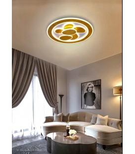 Plafón Redondo Led Pan de Oro PETALS Diseño Santelices