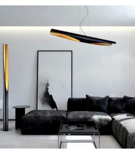 DIVINE Colgante Negro+Oro 36w LED 4000k