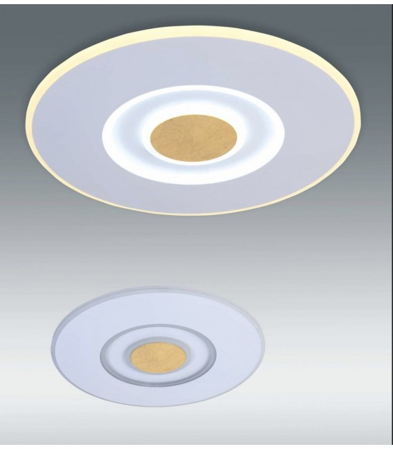 SOLAR Plafón blanco y oro 70w LED CCT variable