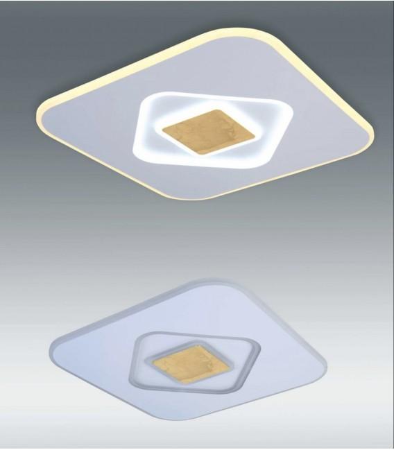 SOLAR Plafón led blanco y oro 90w CCT variable