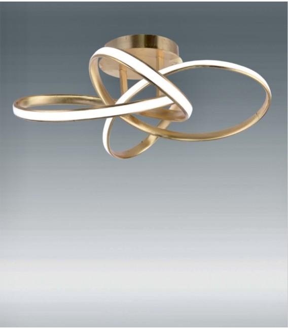 ORBITAL Plafón pan de oro 55w LED CCT variable