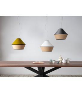 Lámpara de Colgar TOSSA tres luces  E27 Con Pantalla Saco Cuatro Acabados