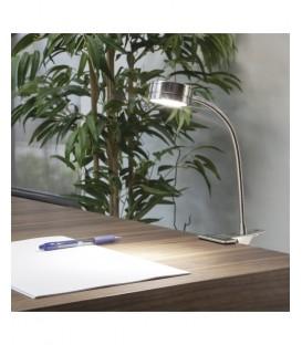 Flexo de Pinza Niquel Satinado TIRSO 5w LED Flexible Económico