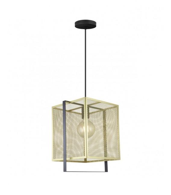 Lámpara Colgante  Rústico Moderno Oro Negro NIMES