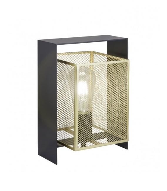 Lámpara de Mesa Rústica Moderna Oro/Negro E27 NIMES