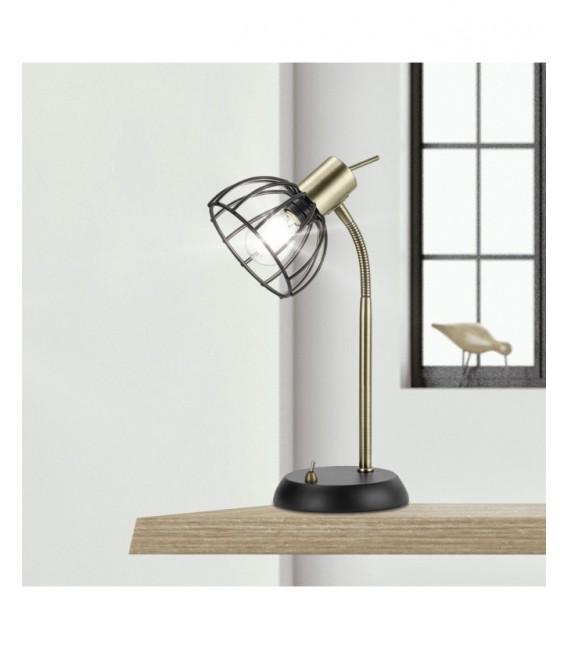 Lámpara de Mesa Flexible Negro/oro mate BERMEO AJP