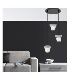 Lámpara Colgante FILIPPA Negro Tres Luces con Pantallas Suspendidas
