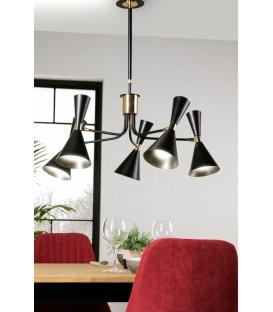 Lámpara de Colgar con Cinco Luces Orientables Metal STEP de Ilusoria