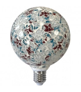 Lámpara Led modelo Tiffany con cristal 4W blanco
