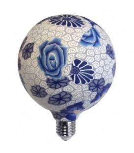 Lámpara flor azul de silicona 4W G125