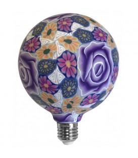 Lámpara flor violeta de silicona 4W G125