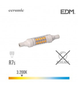 BOMBILLA LINEAL LED 78 MM R7S 5.5W 600 LM 3200K LUZ CALIDA BASE CERAMICA