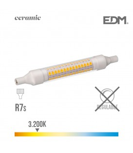 BOMBILLA LINEAL LED 118 MM R7S 9W 1100 LM 3200K LUZ CALIDA BASE CERAMICA EDM